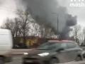 В Москве горят склады, пожар тушат вертолетами
