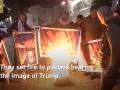 Палестинцы жгут портреты Трампа за поддержку Израиля