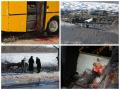 Появились новые фото автобуса и блокпоста под Волновахой