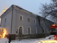 Здание Лавры поджег пьяный бездомный