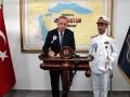 Эрдоган снялся на фоне карты, где греческие острова