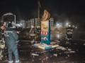 Пожар на заправке под Киевом: горящее топливо текло по трассе