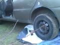 Под Киевом женщина раздавила машиной мужчину в палатке