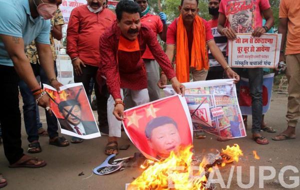В Индии уже вспыхнули антикитайские протесты