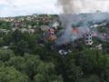 В центре оккупированного Донецка горел особняк
