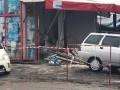 В Харькове авто полиции врезалось в торговый павильон