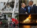 День в фото: Встреча Обамы и Путина, пожар на Интере и реконструкция Великого пожара в Лондоне
