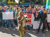 Горняки Сухой Балки начали бессрочный митинг под зданием Госгеологии