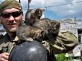 Опубликована трогательная фотосессия бойцов АТО с домашними животными