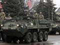 Американские военные на броневике попали в ДТП в Польше