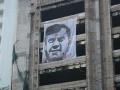 В Киеве появился 6-метровый портрет Януковича с пулей во лбу (ФОТО)