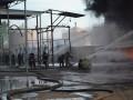 ГСЧС: Спасатели потушили еще две цистерны на нефтебазе, горят три