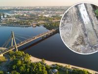 В Киеве застройщик заливает бетоном часть исторической речки Почайна