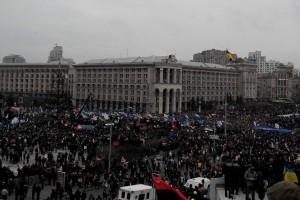 Антиправительственный митинг в Киеве 1 декабря