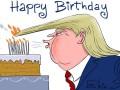 Трампа поздравили с днем рождения фотожабами