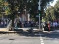 В Сумах Prius патрульных сбил пешеходов и перевернулся