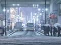 В Японии прошел снегопад, десятки пострадавших