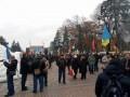 Под Радой митинг, полиция перекрыла Грушевского