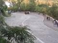 В сети появилось впечатляющее видео ДТП с переворотом в Киеве
