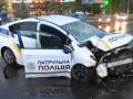 В Николаеве полицейское авто влетело в столб