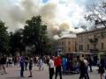 В центре Львова горел дом