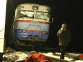Видео с места столкновения маршрутки и поезда на Сумщине