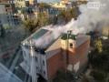 В Полтаве горела гостиница: центр города в дыму
