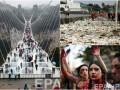 День в фото: кровавый протест в Чили, туристы на стеклянном мосту в Китае и мусор на Филиппинах