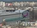 В киевском ТРЦ из-за ветра обрушился стеклянный фасад