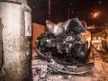 В Киеве такси Uber влетело в столб, водитель уснул за рулем