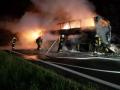 В Польше полностью сгорел автобус Киев-Прага