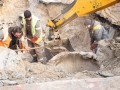 Стало известно, как идет ремонт на месте вчерашнего провала на Саксаганского