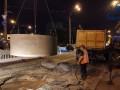 В Киеве из-за аварии на коллекторе образовался дорожный провал