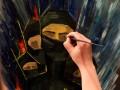 Художники расписали щиты Самообороны Майдана