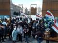 На Майдане прошла акция в поддержку белорусского Дня воли