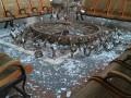 На херсонском вокзале упала огромная люстра