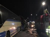 На трассе в РФ столкнулись два автобуса