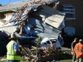 В Австралии сильный ветер сорвал крыши с домов