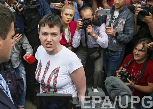 Надежда Савченко после освобождения