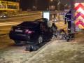В Киеве авто влетело в опору: погиб пассажир