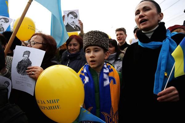 Крым. Митинг в честь 200-летия Шевченко