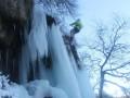 В Украине замерз самый высокий равнинный водопад