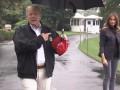 Трамп оконфузился, не поделившись зонтом с женой