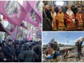День в фото: протест ветеранов Афгана, Патриарх Филарет в Чернигове и землетрясение в Индонезии
