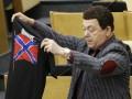 Кобзон в Госдуме прорекламировал футболки с символикой