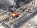Новый взрыв в Харькове: вновь сгорела машина