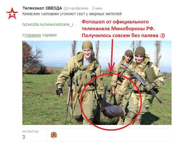 Телеканал Звезда: Киевские силовики угоняют скот у мирных жителей