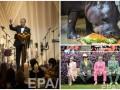 День в фото: государственный обед Обамы, бегемот-именинник и яркие зрители ипподрома