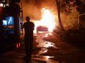 Появилось видео, как в Киеве сгорел Porsche