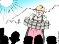 Путин в шкафу и Меркель с пивом: немецкие карикатуры на саммит G7